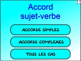 accord sujet-verbe