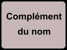 Complément du nom (CDN)