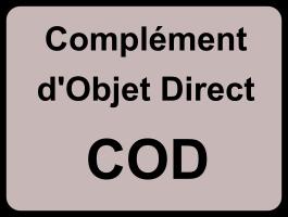 Complément d'objet direct (COD)