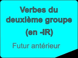 Conjuguer les verbes du deuxième groupe au futur antérieur