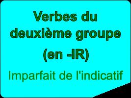 Conjuguer les verbes du deuxième groupe à l'imparfait de l'indicatif