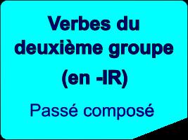 Conjuguer les verbes du deuxième groupe au passé composé