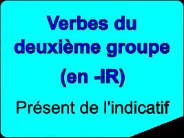 Conjuguer les verbes du deuxième groupe au présent de l'indicatif