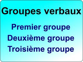 exercice groupes verbaux