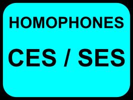 Homophones ces/ses