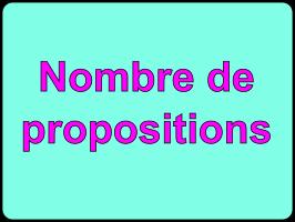 nombre de propositions