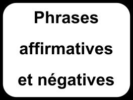 Transformer une phrase affirmative en phrase négative.