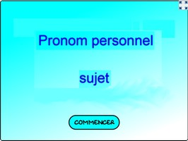 Trouve le pronom personnel
