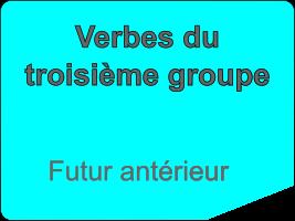 Conjuguer les verbes du troisième groupe au futur antérieur