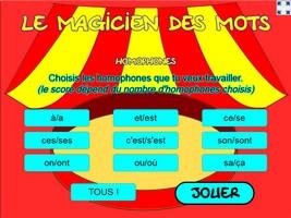 Le magicien des mots (homophones)
