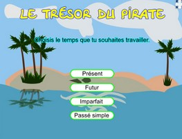 Le trésor du pirate - conjugaison (verbes du troisieme groupe)